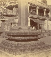 Close view of the base of the Aruna-stambha in front of the Jagannatha Temple, Puri-Odisha Old Photos