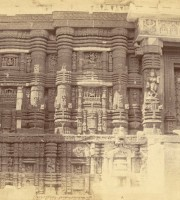 Entrance and left half of east façade of the refectory of the Jagannatha Temple, Puri